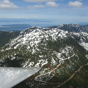 View of Beaufort Range and Strait of Georgia